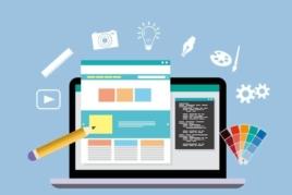 Vector of website being designed image