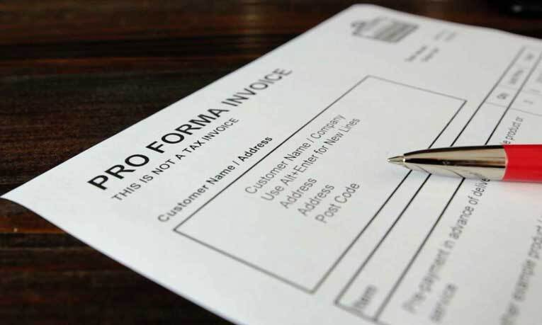What is a proforma invoice?
